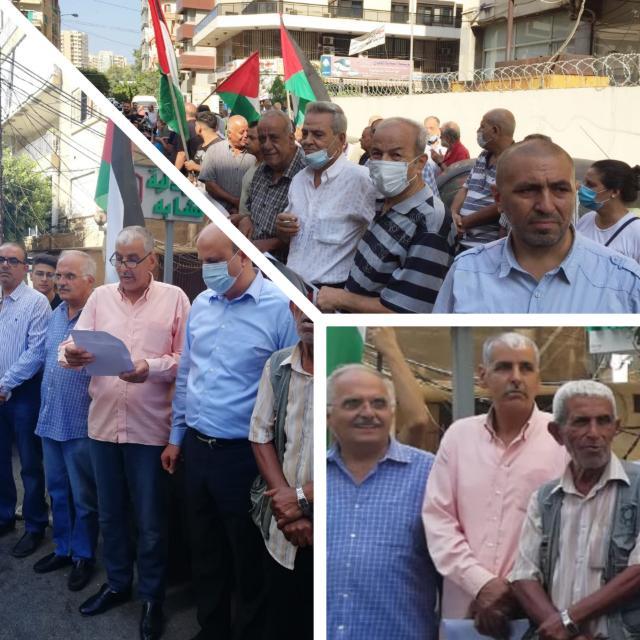 اعتصام للجان الشعبية أمام مكتب الأونروا في بيروت وطرابلس