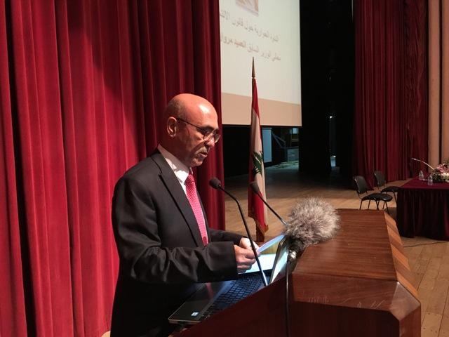 جمعية خريجي الجامعات والمعاهد العراقية اقامت ندوة في قاعة الاونيسكو للوزير مروان شربل حول قانون الانتخاب - مصور