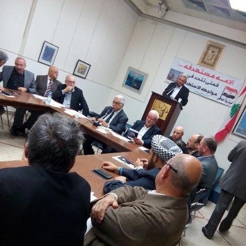 الفصائل الفلسطسنية والاحزاب اللبنانية تتضامن مع مصر في بيروت