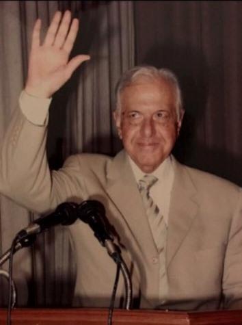 شكر على التعزية بالراحل الدكتور عبد المجيد الرافعي نائب الامين العام لحزب البعث العربي الاشتراكي رئيس حزب طليعة لبنان
