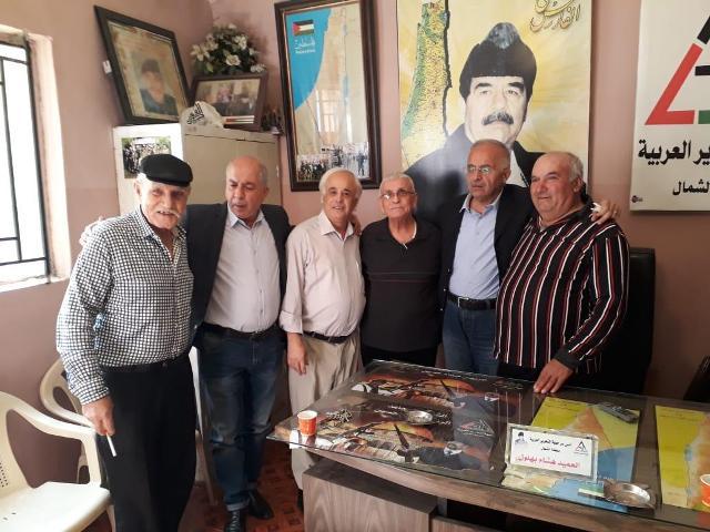 قيادة فرع الشمال في حزب طليعة لبنان  تستكمل زياراتها للفصائل الفلسطينية