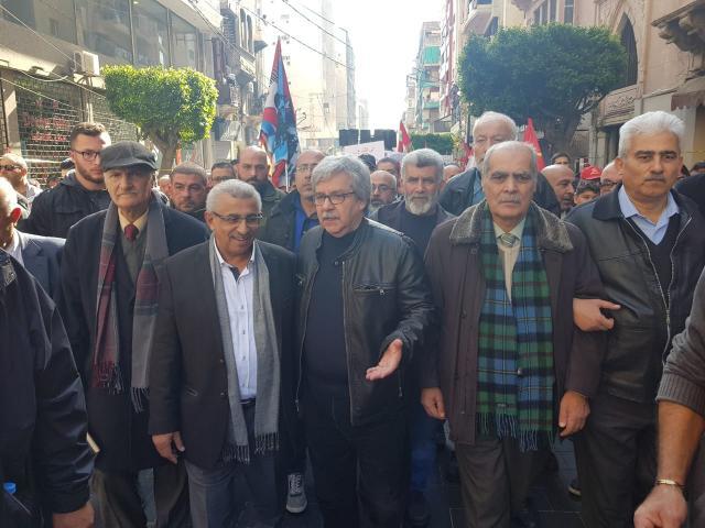 طليعة لبنان شارك مع القوى والاحزاب الوطنية ومجموعات الحراك المدني في مسيرة