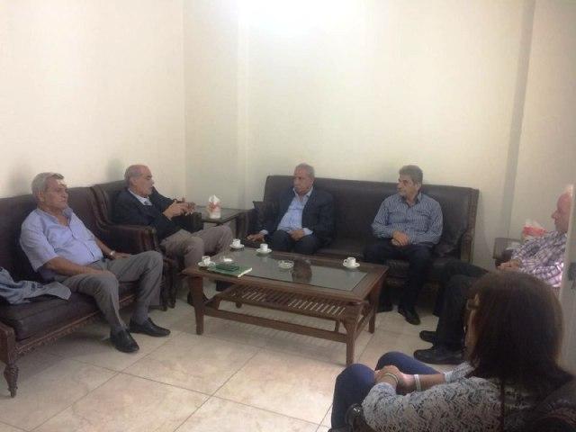 رئيس حزب طليعة لبنان الرفيق حسن بيان يستقبل وفداً من منظمة العمل الشيوعي