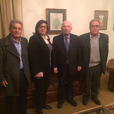 وفد من حزب طليعه لبنان العربي الاشتراكي يلتقي دولة الرئيس حسين الحسيني